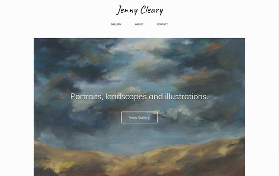 image of jennycleary.com website