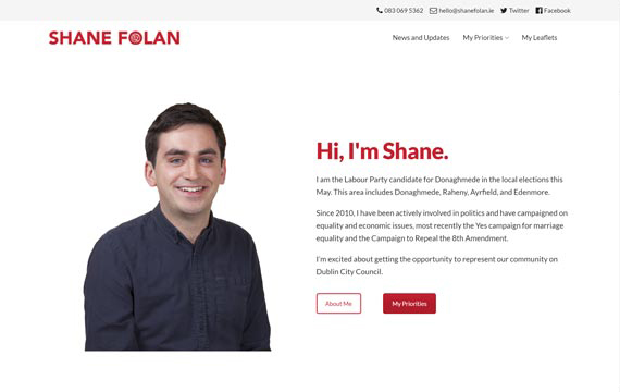 image of shanefolan.ie website
